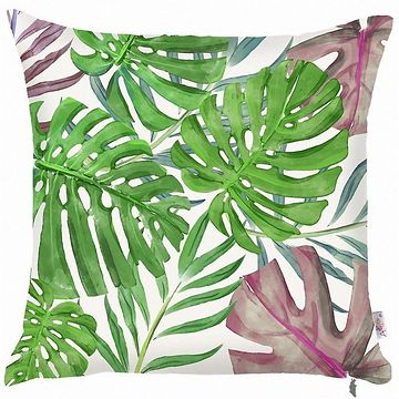 Zelený povlak na polštář Mike & Co. NEW YORK Monstera Heaven, 43 x 43 cm