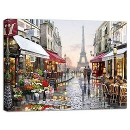 Obraz Styler Canvas Watercolor Paris I, 75 x 100 cm